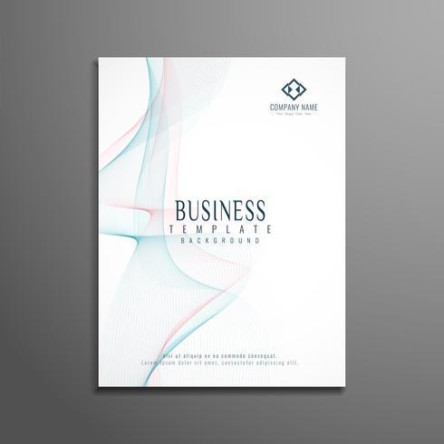 Modern wavy business brochure flyer template vector