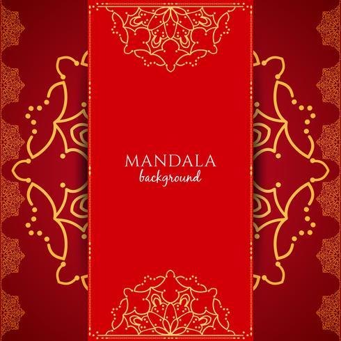Fond abstrait mandala de luxe vecteur