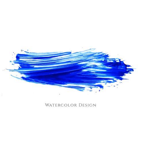 Dessin abstrait bleu aquarelle