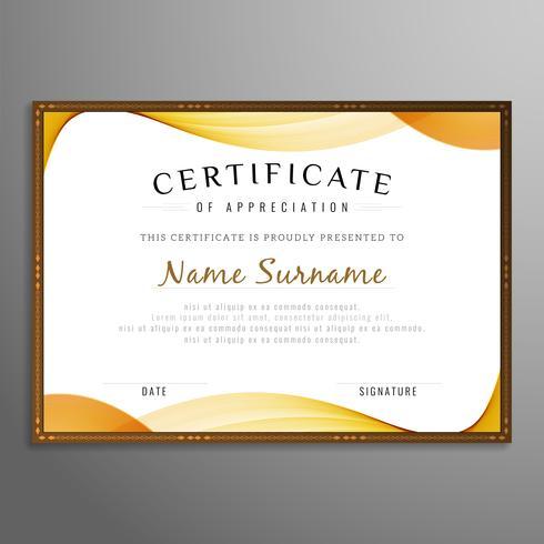 Abstracte certificaat golvende achtergrond
