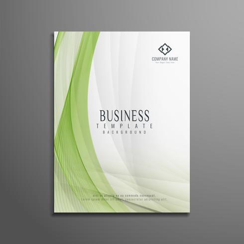Conception de modèle de flyer business wave abstraite