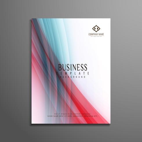 Design de modelo abstrato colorido ondulado negócios panfleto