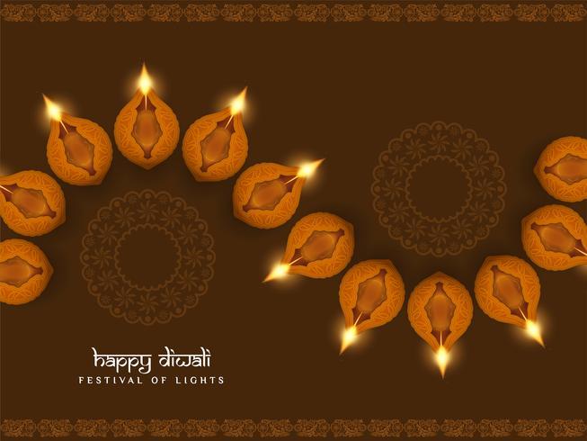 Abstracte gelukkige Diwali religieuze elegante achtergrond