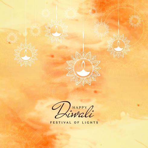 Abstracte mooie Gelukkige Diwali-achtergrond van de festivalgroet