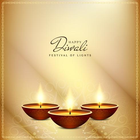 Abstrait artistique Diwali heureux