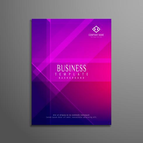 Abstract business flyer template design vector