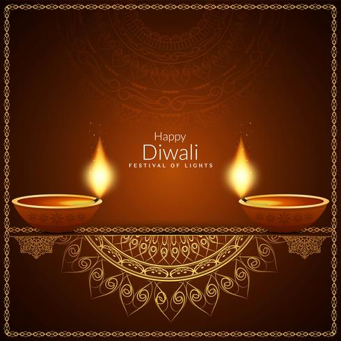 Abstracte stijlvolle Happy Diwali decoratieve achtergrond