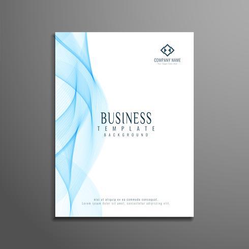 Conception de modèle ondulé élégant flyer abstrait affaires