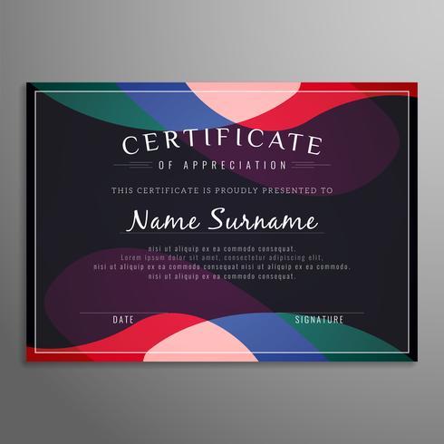 Abstract modern certificate design template vector