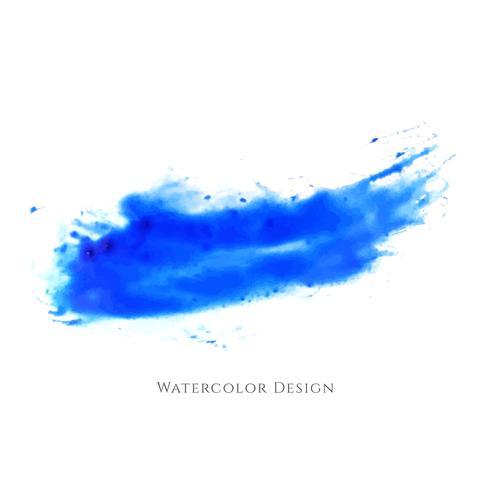 Desenho abstrato azul aquarela traçados