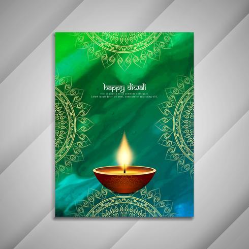 Abstract Happy Diwali-brochureontwerp
