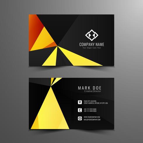 Sjabloon voor abstract moderne geometrische visitekaartjes