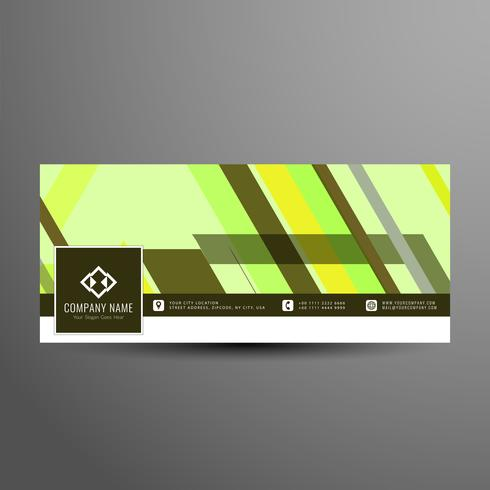 Abstract colorful facebook timeline banner template vector