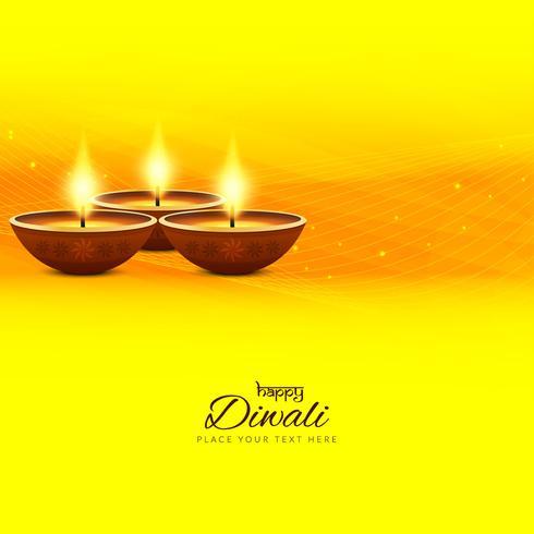 Abstracte gelukkige Diwali-achtergrond vector