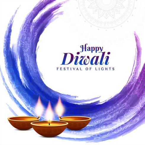 Abstrait aquarelle Diwali heureux vecteur