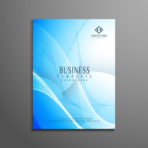 Abstrakte blaue gewellte Geschäftsbroschüre