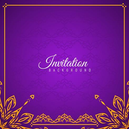 Design de fond abstrait belle invitation