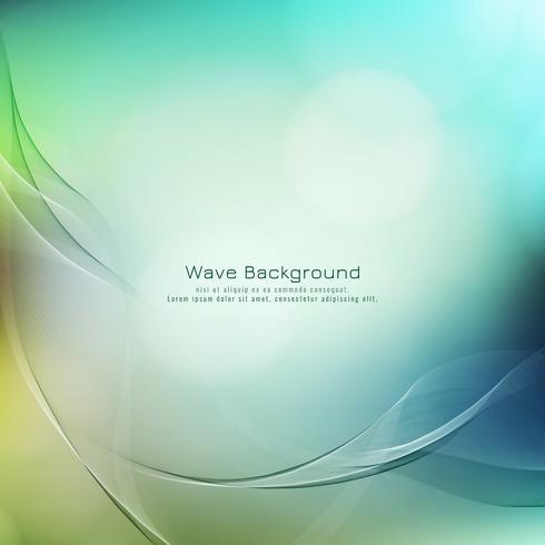 Bunter Hintergrund der abstrakten eleganten Wellenart