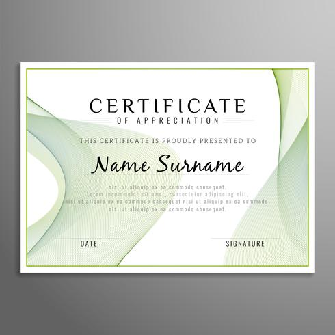 Resumo certificado fundo ondulado