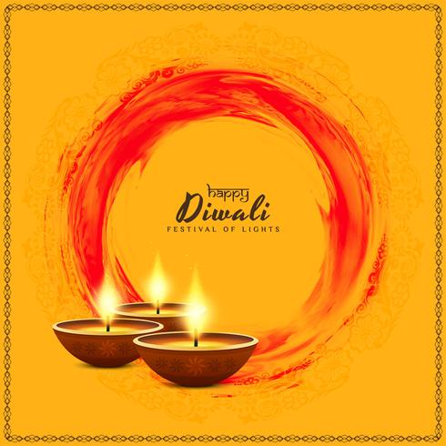 Abstract religious Happy Diwali background vector