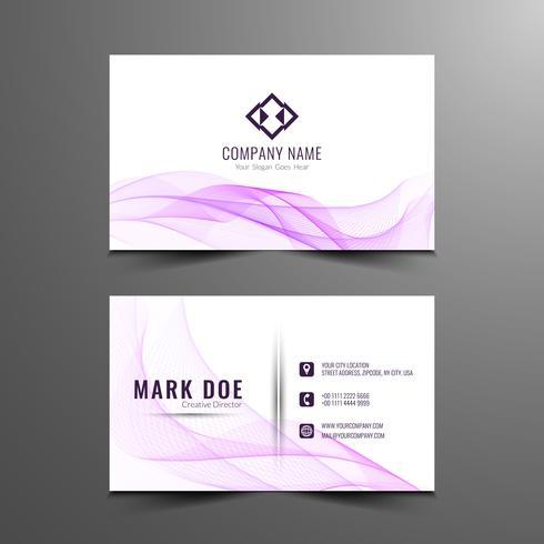 Design de cartão ondulado elegante abstrato