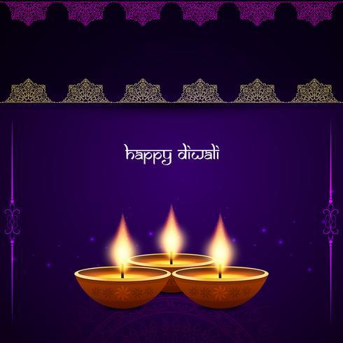 Fondo abstracto decorativo de Diwali feliz vector