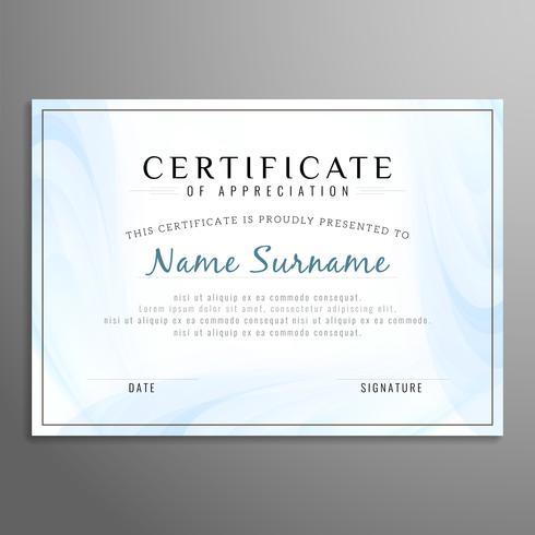 Astratto moderno certificato di sfondo