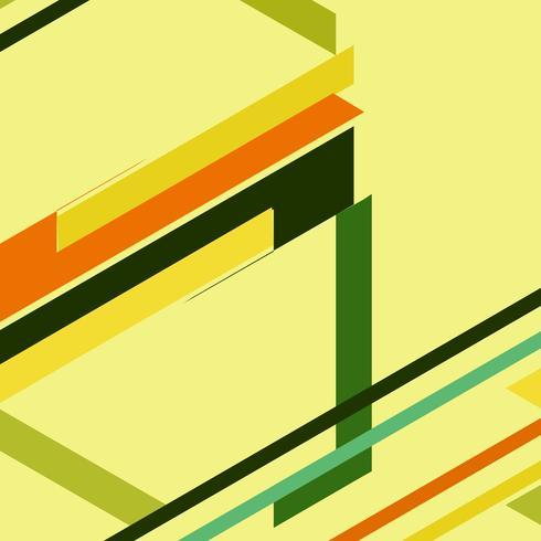 Abstrait coloré rétro géométrique vecteur
