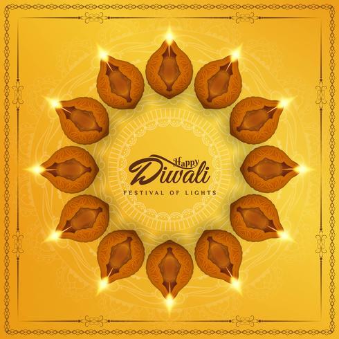 Abstrait religieux joyeux Diwali élégant vecteur