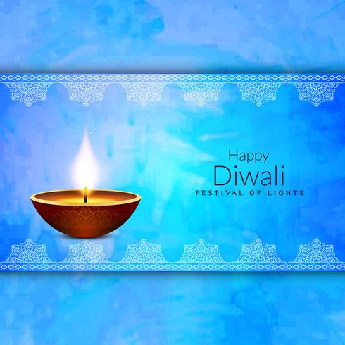 Abstract religious Happy Diwali festival background vector