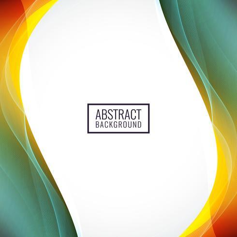 Abstrato colorido design de onda de fundo vetor