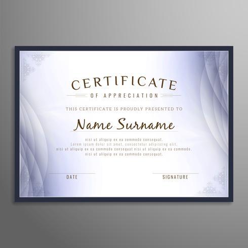 Resumo certificado de fundo