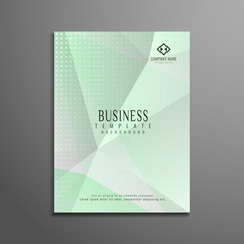 Diseño geométrico abstracto de la plantilla del aviador del negocio vector