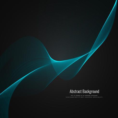 Fundo elegante abstrato elegante onda
