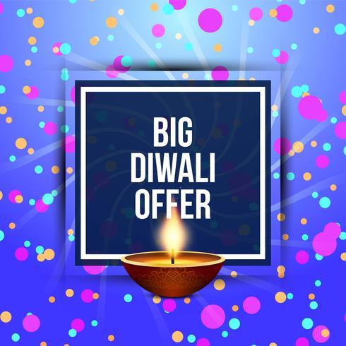 Résumé Joyeux Diwali offre fond vecteur