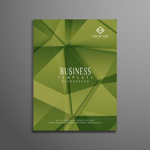 Modello di brochure aziendale poligonale astratto