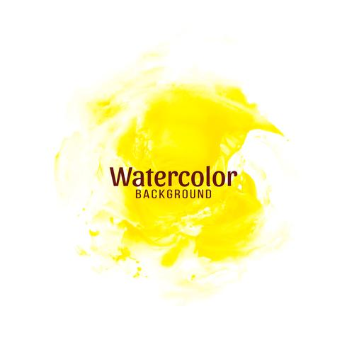 Abstract yellow watercolor design background vector