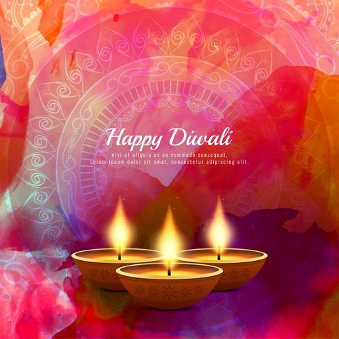 Abstrait décoratif joyeux Diwali