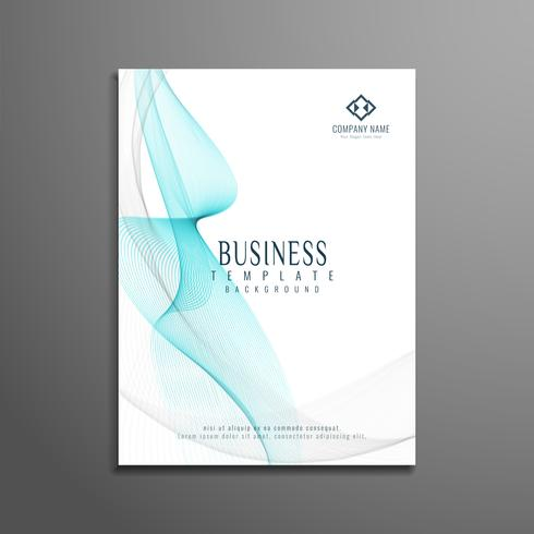 Abstract business flyer stylish wavy template design