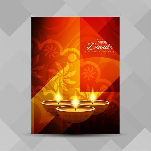 Modelo de design de folheto religioso feliz Diwali feliz