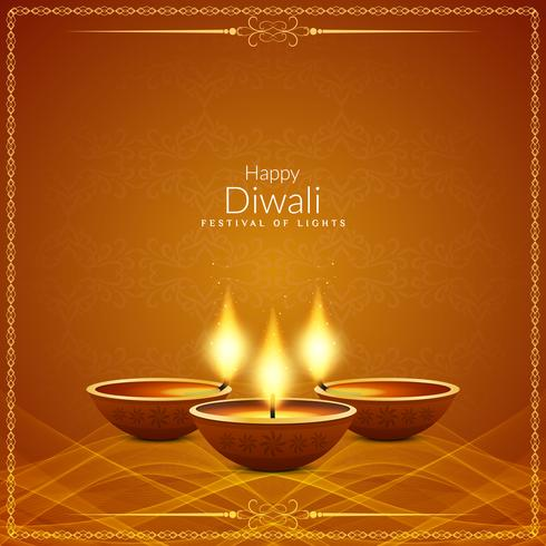 Fundo religioso abstrato feliz Diwali festival vetor