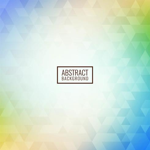 Fundo abstrato mosaico triangular colorido