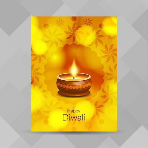 Diseño de folleto abstracto feliz Diwali festival vector