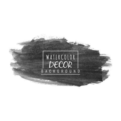 Abstracte zwarte aquarel vector vlek ontwerp achtergrond