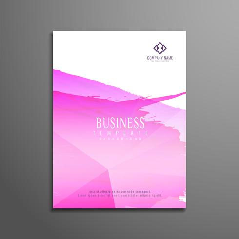 Abstract watercolor business flyer template design vector