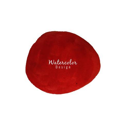 Abstracte rode het ontwerpachtergrond van de waterverfvlek vector