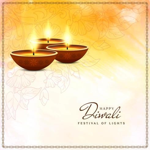 Abstrait religieux joyeux Diwali élégant