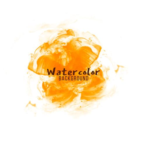 Abstract orange watercolor design background
