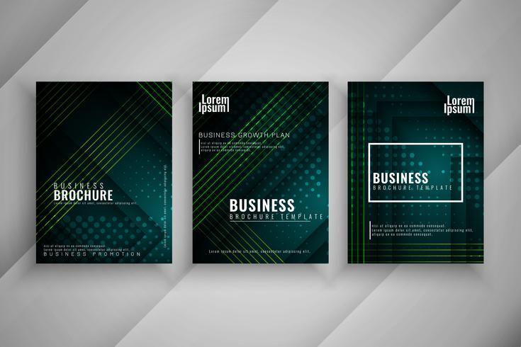 Conjunto de brochura de negócios elegante abstrata