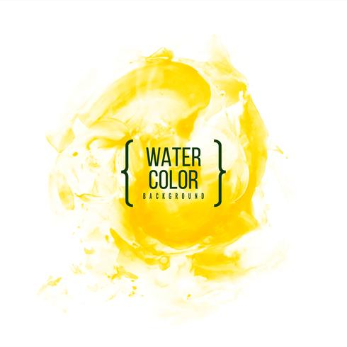 Abstract yellow watercolor background vector